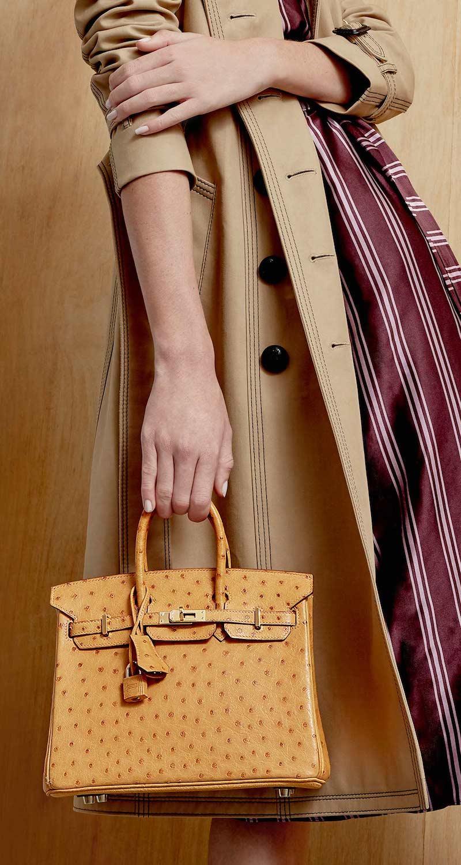 Vintage Hermès 25cm Sable Ostrich Birkin