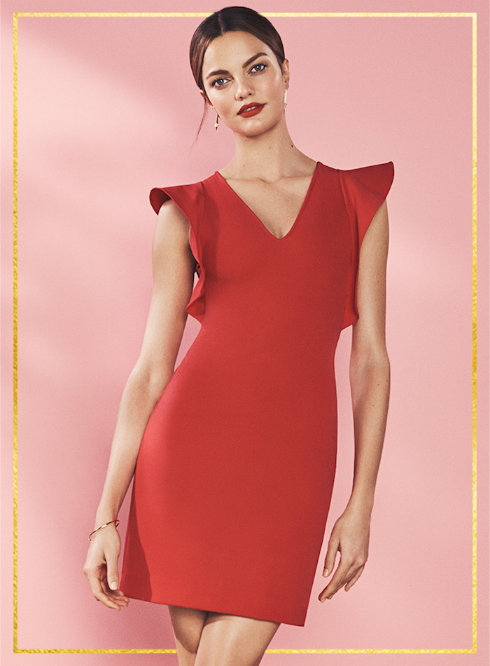 Yoana Baraschi True Love Double Ruffle Shaper Dress