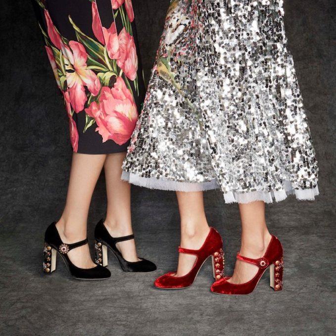 mytheresa.com x Dolce & Gabbana Embellished Velvet Pumps