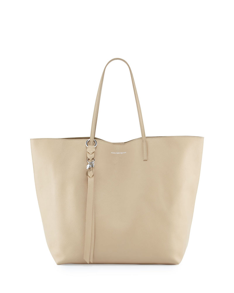 Alexander McQueen Skull Open Leather Shopper Tote Bag