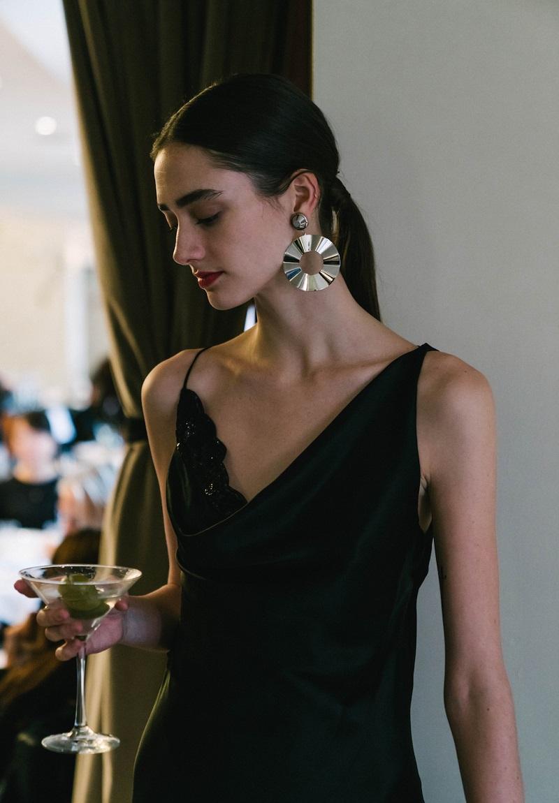 Altuzarra Moonshine Silk-Blend Embellished Dress