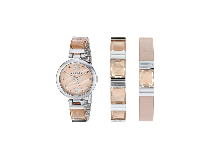 Anne Klein Quartz Metal and Resin Dress Watch