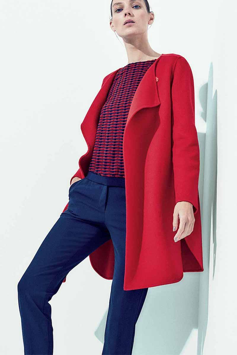 Armani Collezioni Double-Faced Wool Wrap Coat