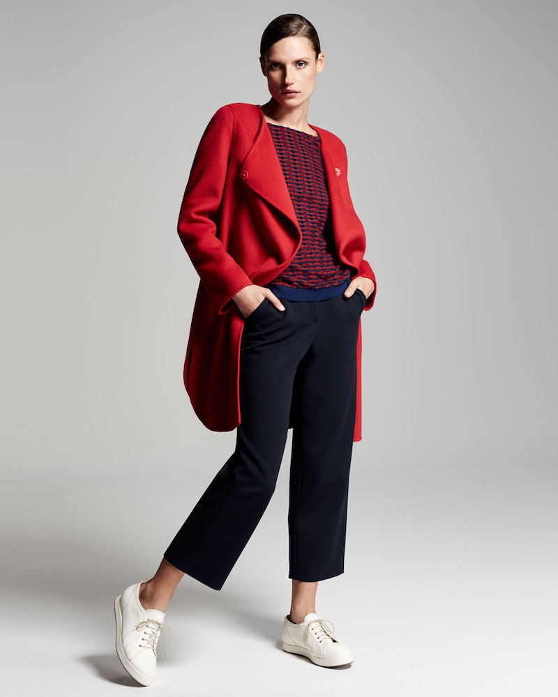 Armani Collezioni Double-Faced Wool Wrap Coat
