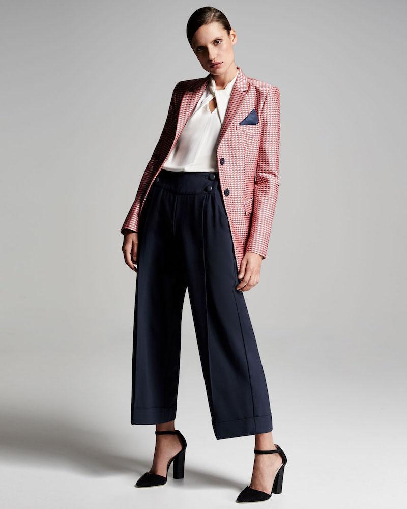 Armani Collezioni Geometric-Jacquard One-Button Jacket