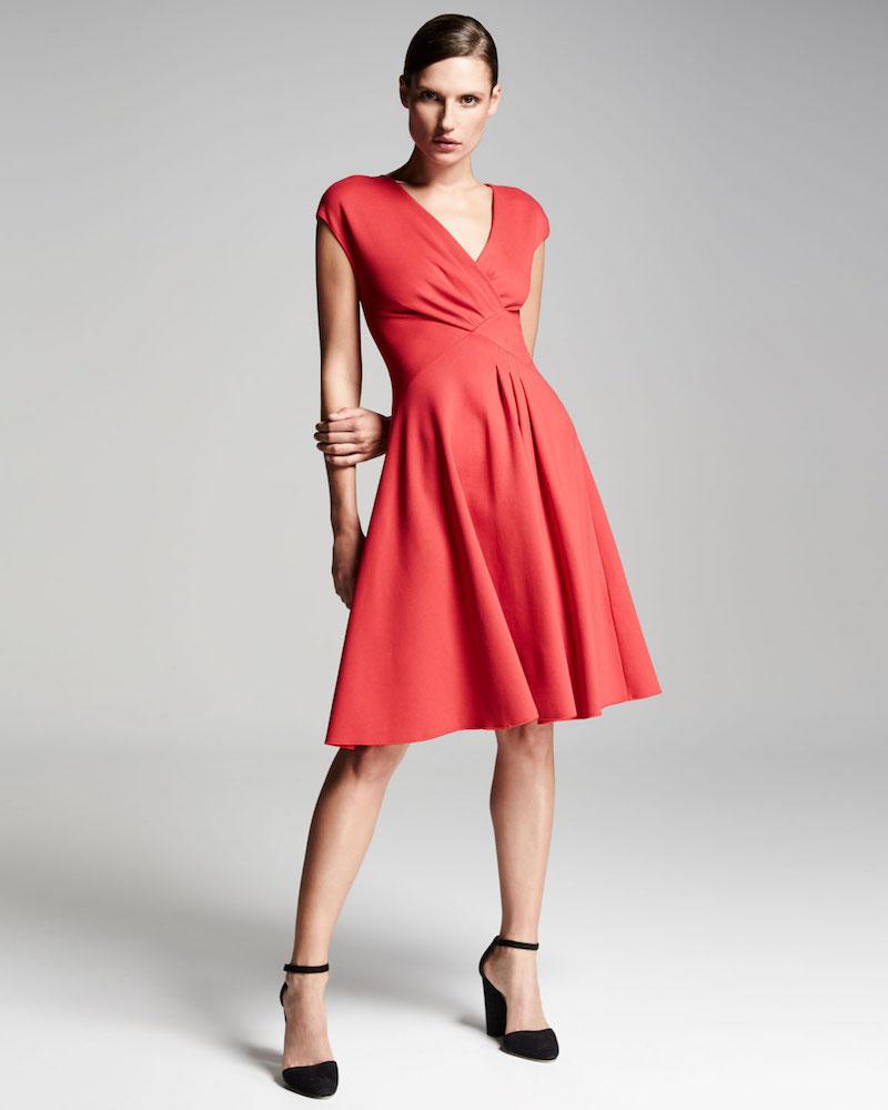 Armani Collezioni Milano Jersey V-Neck Dress