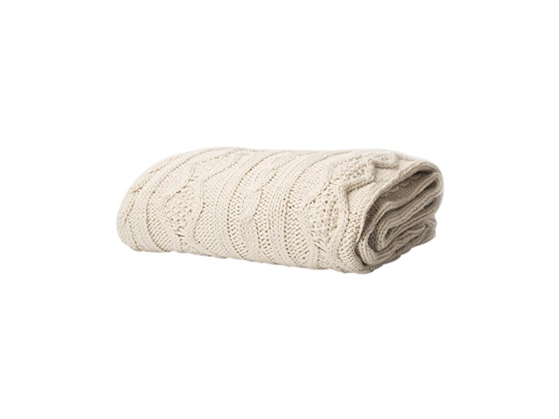 Battilo Luxury Cable Knit Throw Blanket