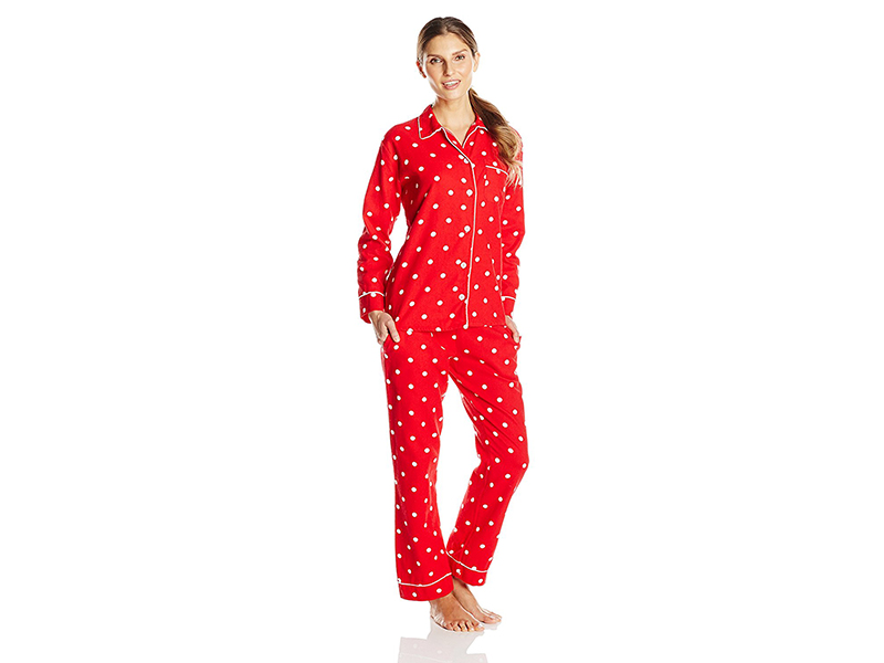 Bottoms Out Cotton Flannel Pajama Set