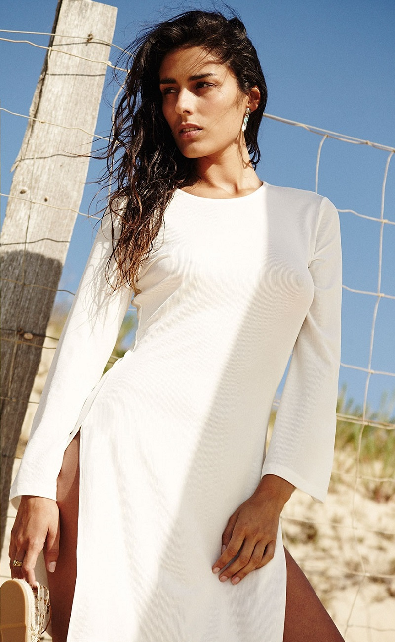Bower Long-sleeved beach tunic