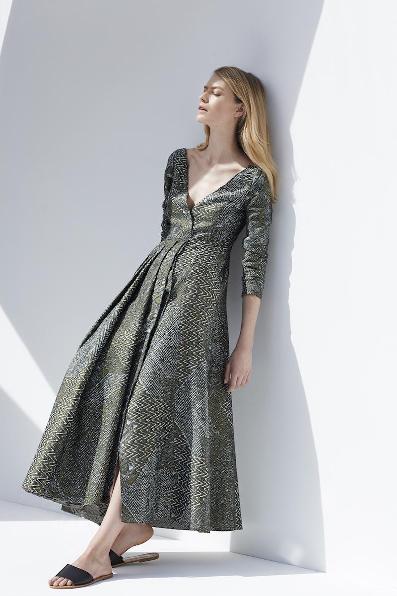 Carl Kapp Piano A-Line Jacquard Dress