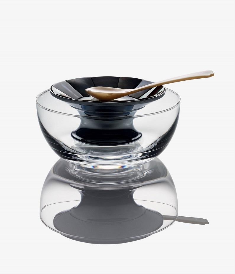 Cedes Milano Caviar Stand & Bowl Set