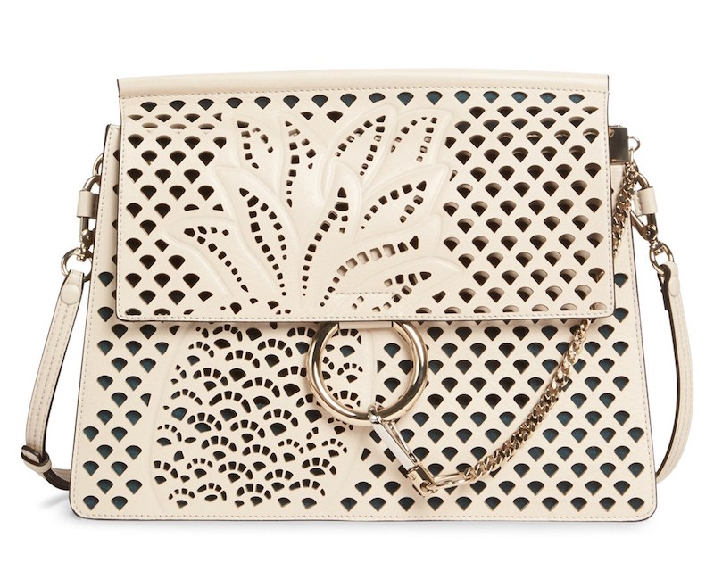 Chloé Medium Faye Perforated Leather Shoulder Bag