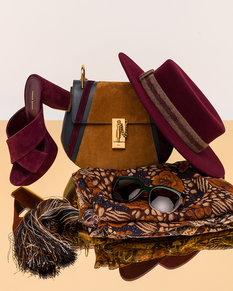 Chloé Small Patchwork Suede Drew Bag