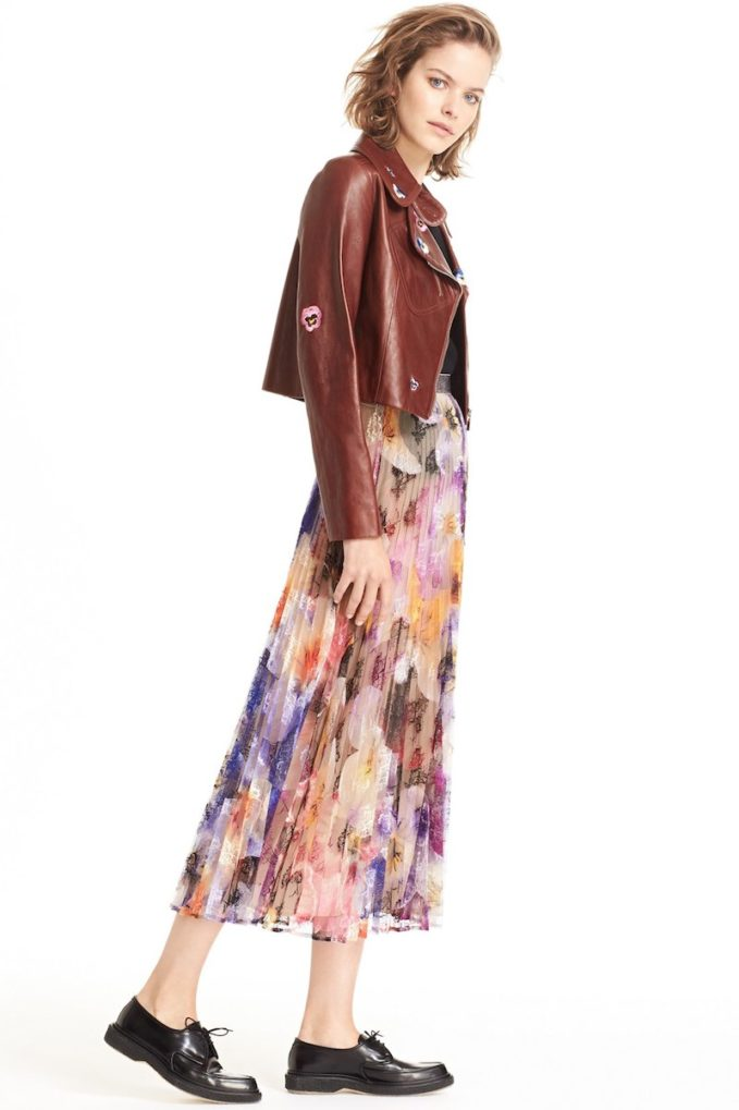 Christopher Kane Long Pleated Skirt