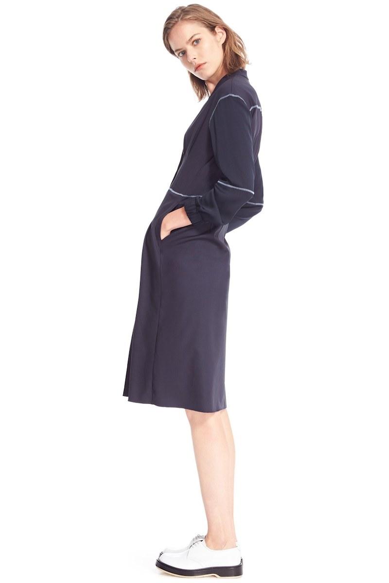 Colovos Seasonless Wool & Silk Shirtdress