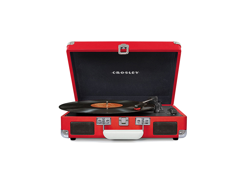Crosley CR8005D-RE Cruiser Deluxe Portable 3-Speed Turntable with Bluetooth