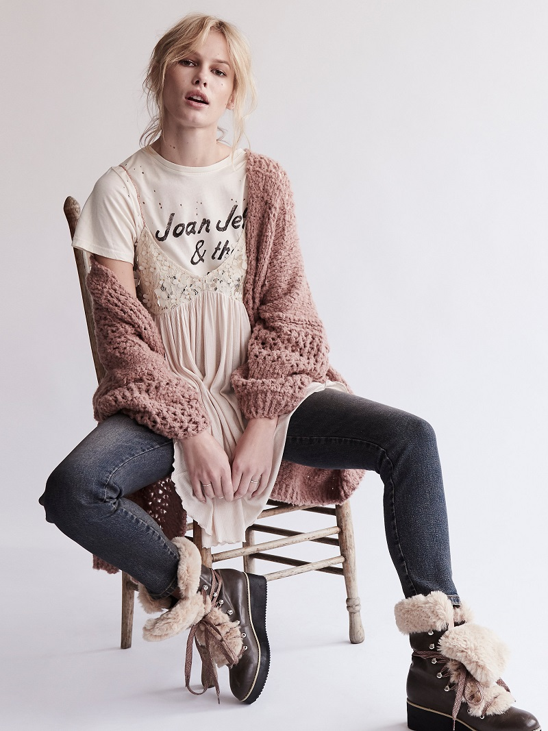 Daydreamer x Free People Cream The Runaways Tee