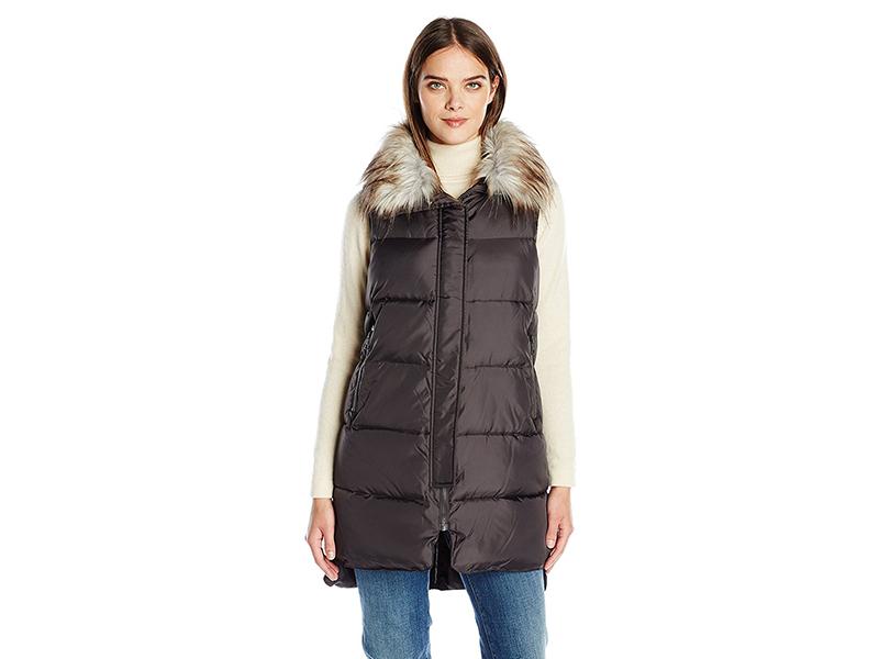 Derek Lam 10C Faux Fur Trim Vest
