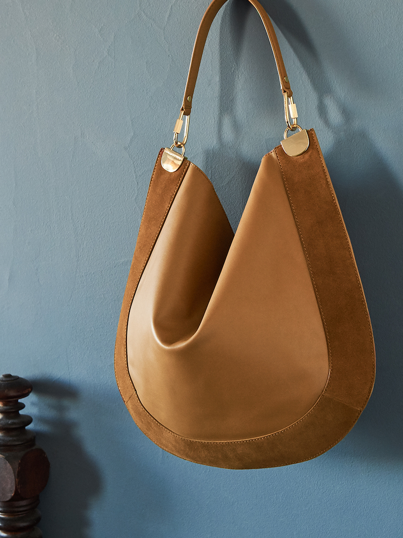 Diane von Furstenberg Large Leather & Suede Hobo Bag