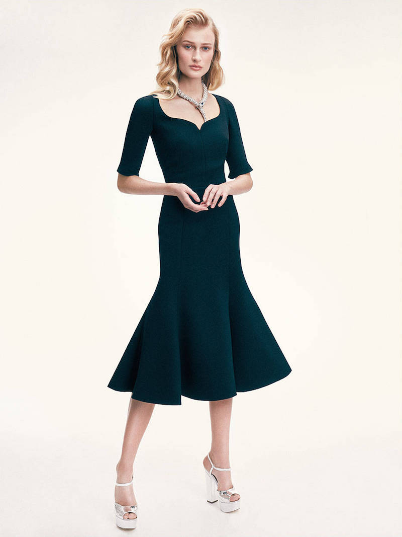 Dolce & Gabbana Double Wool Crepe Stretch Flared Dress