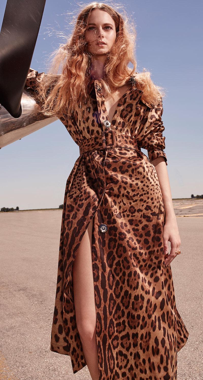 Dolce & Gabbana Leopard Silk Trenchcoat