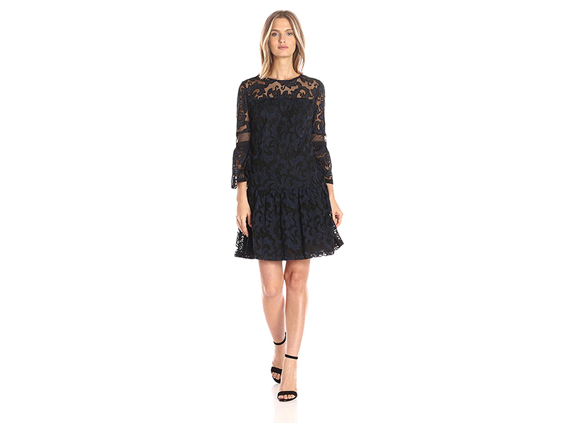 Donna Morgan A-Line Dress W Ruffle Hem