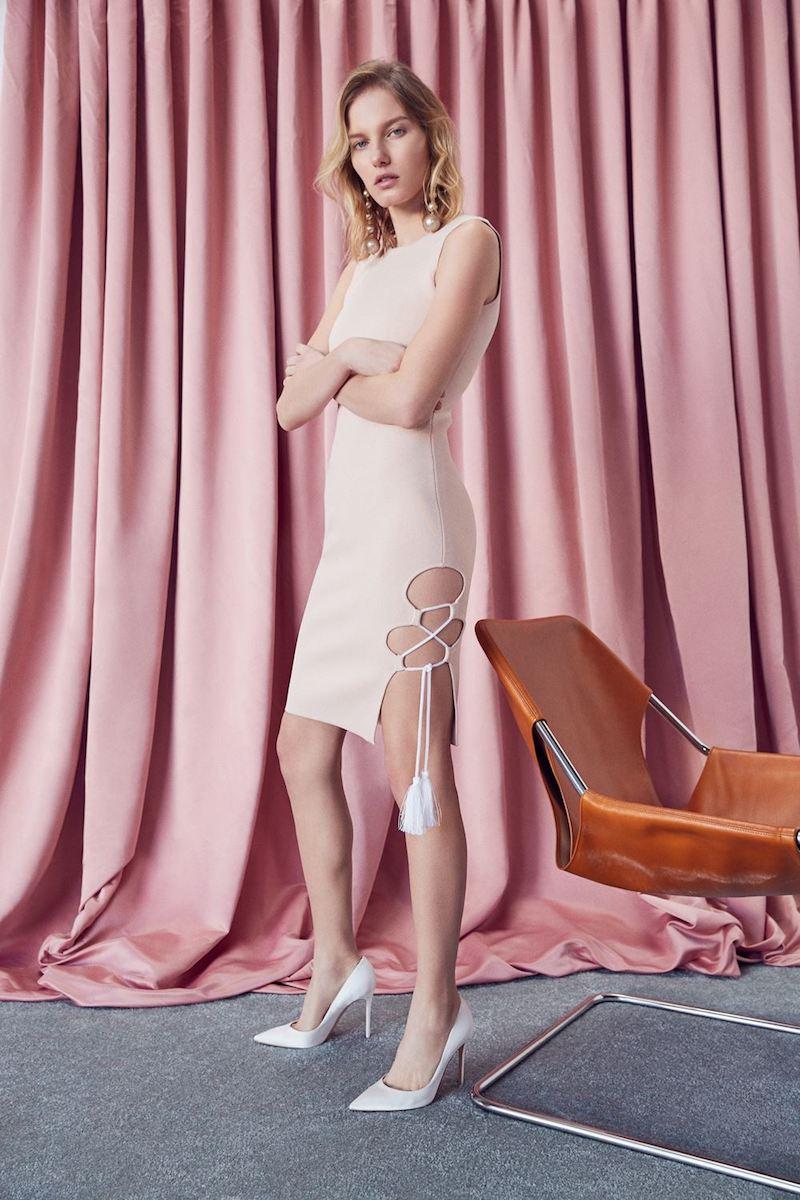 FWRD Exclusive JONATHAN SIMKHAI Knit Lace-Up Dress