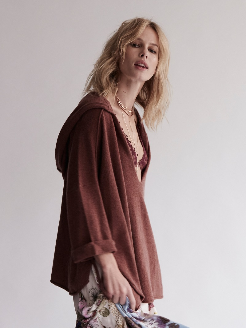 Free People Soft As A Whisper Cashmere Hoodie