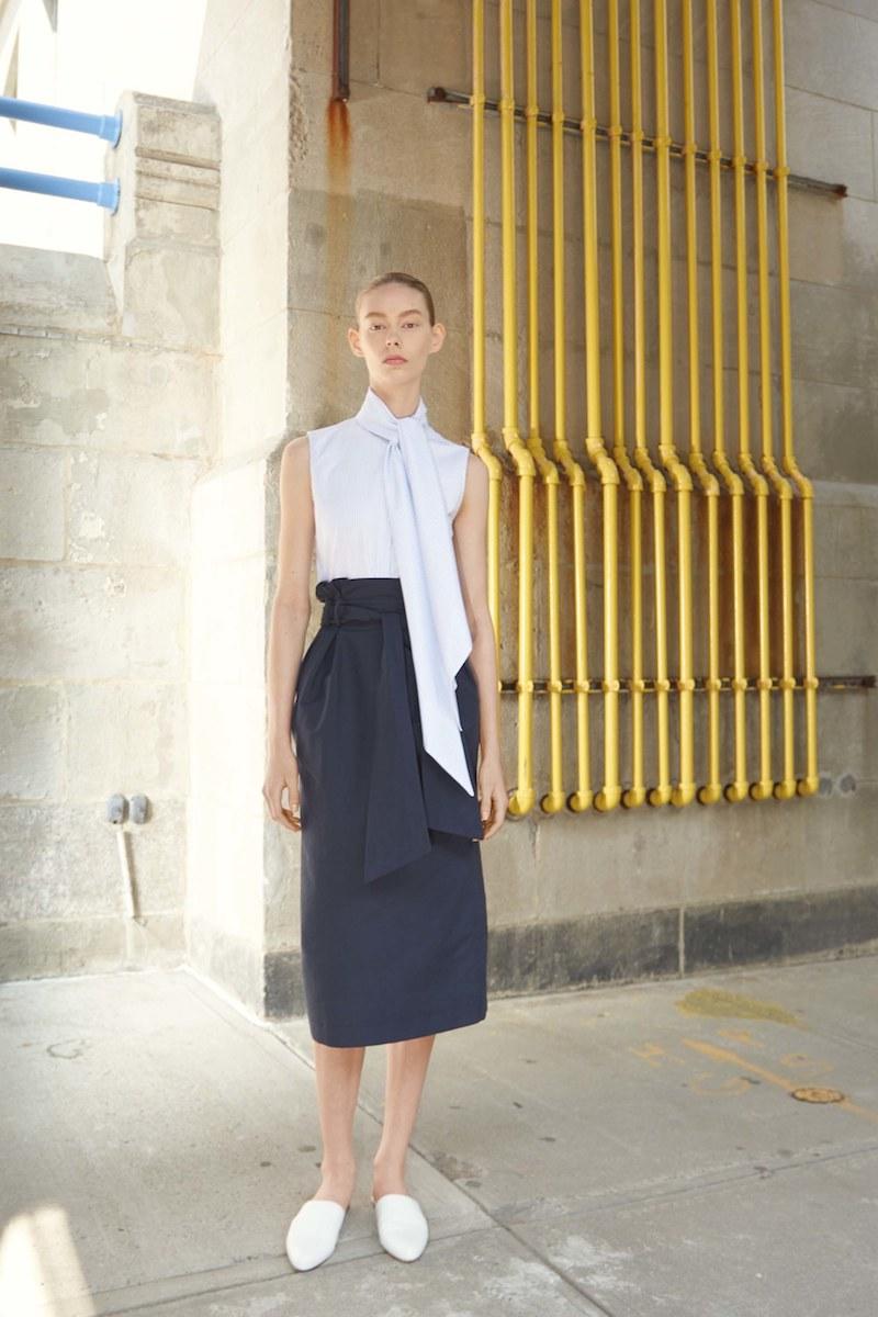 Gabriela Hearst Jordan Paperbag-Waist Cotton Skirt