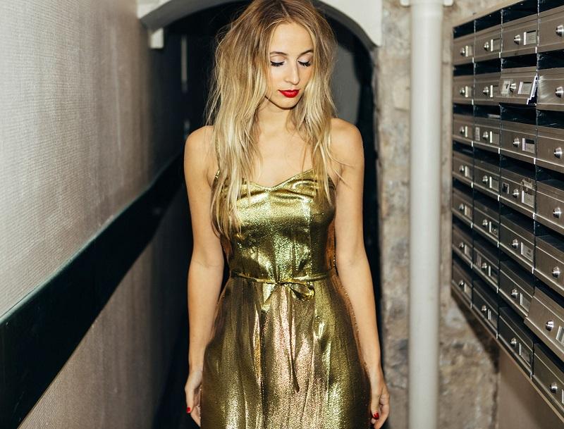 HVN Morgan strap dress-