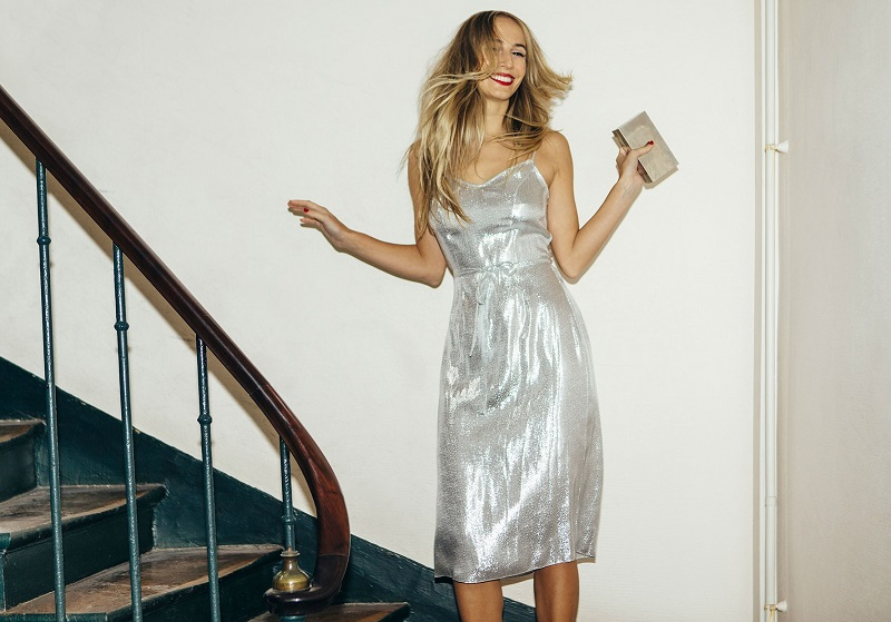 HVN Morgan strap dress