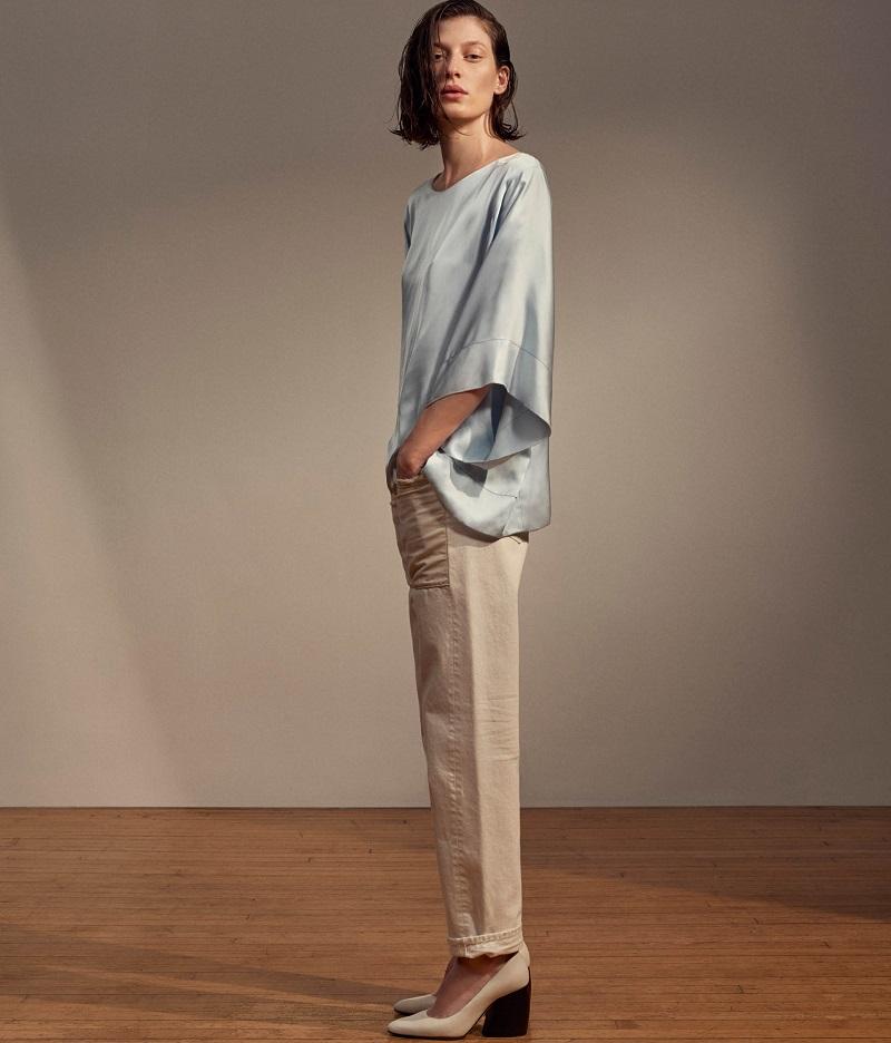 Helmut Lang Kimono Sleeve Top