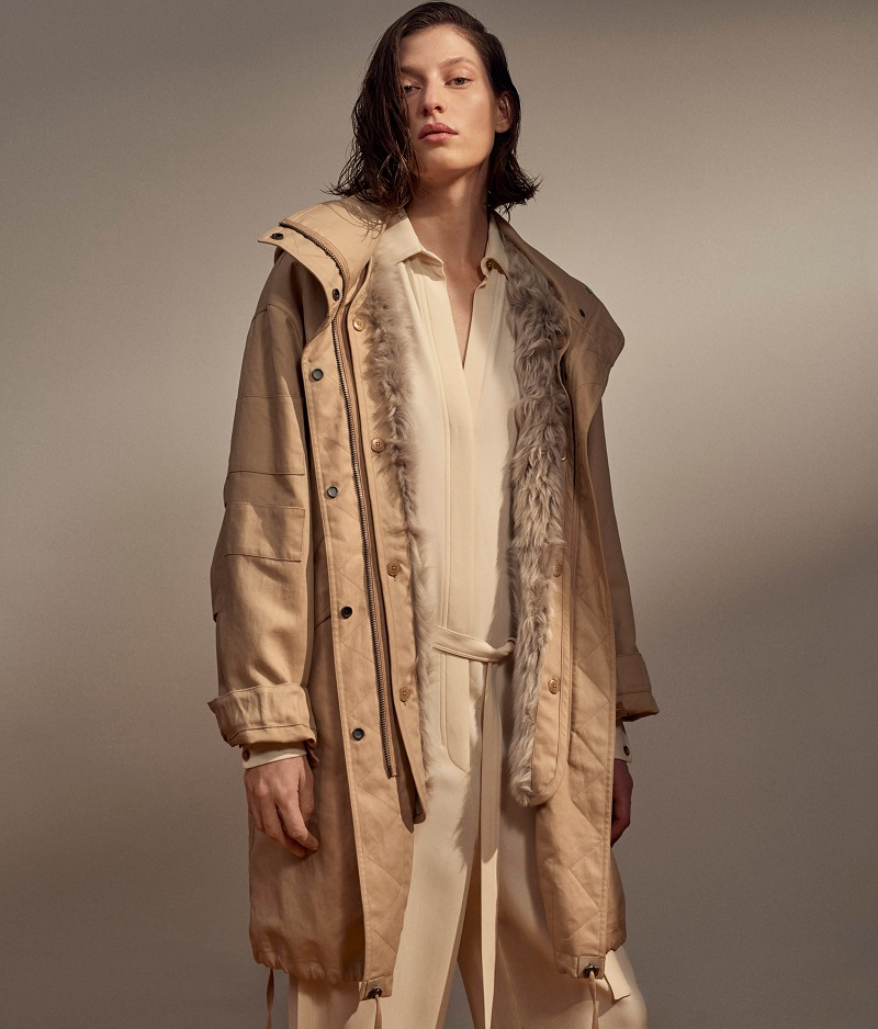 Helmut Lang Shearling-Lined Hooded Parka