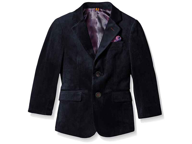 Isaac Mizrahi Boys' Single-Breasted Velvet Blazer