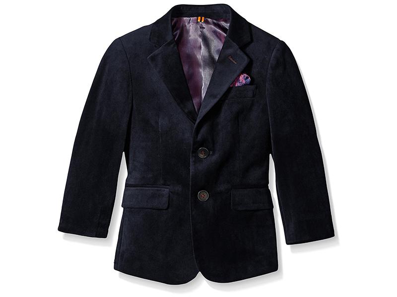 Isaac Mizrahi Boys' Single-Breasted Velvet Blazer