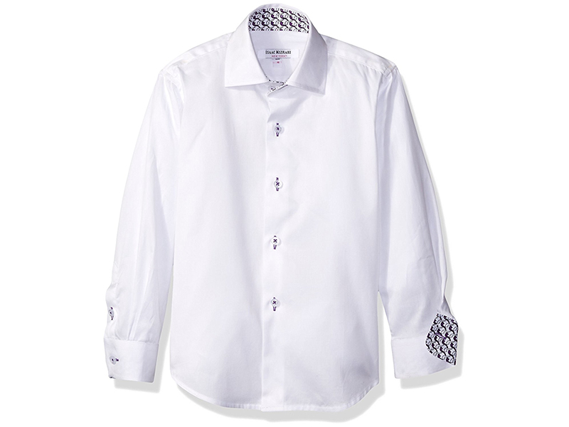Isaac Mizrahi Boys' Solid Cotton Button Down