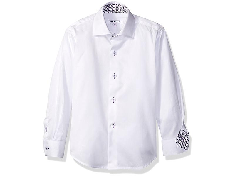 Isaac Mizrahi Boys' Solid Cotton Button Down