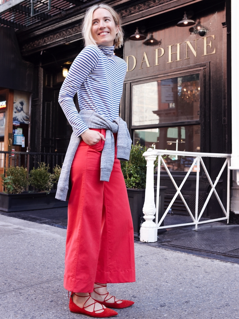 J.Crew Wide-Leg Cropped Chino Pant
