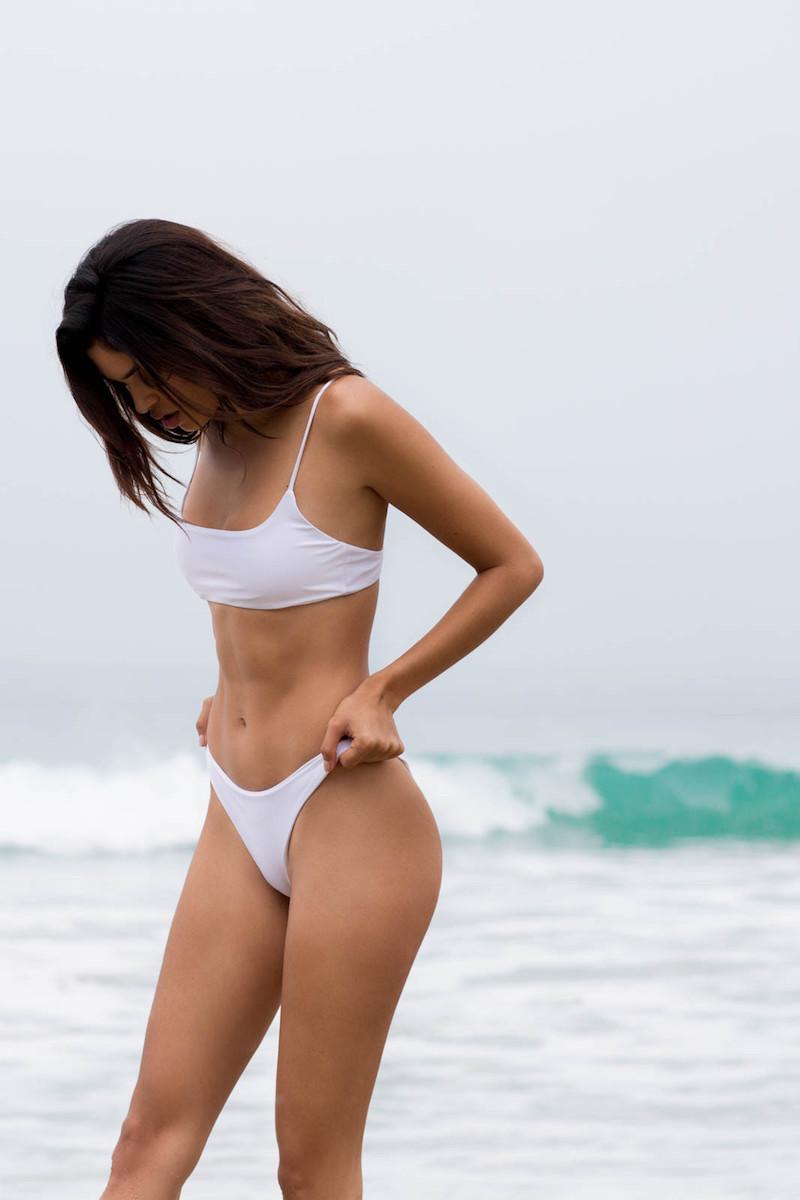 Jade Swim Micro Muse Scoop-Neck Bikini Top