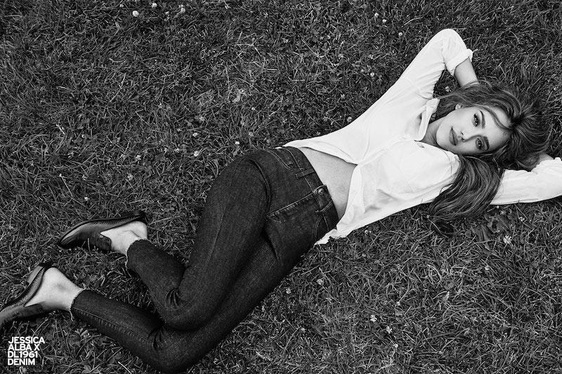 Jessica Alba x DL1961 No. 2 Trimtone Skinny Ankle Jeans