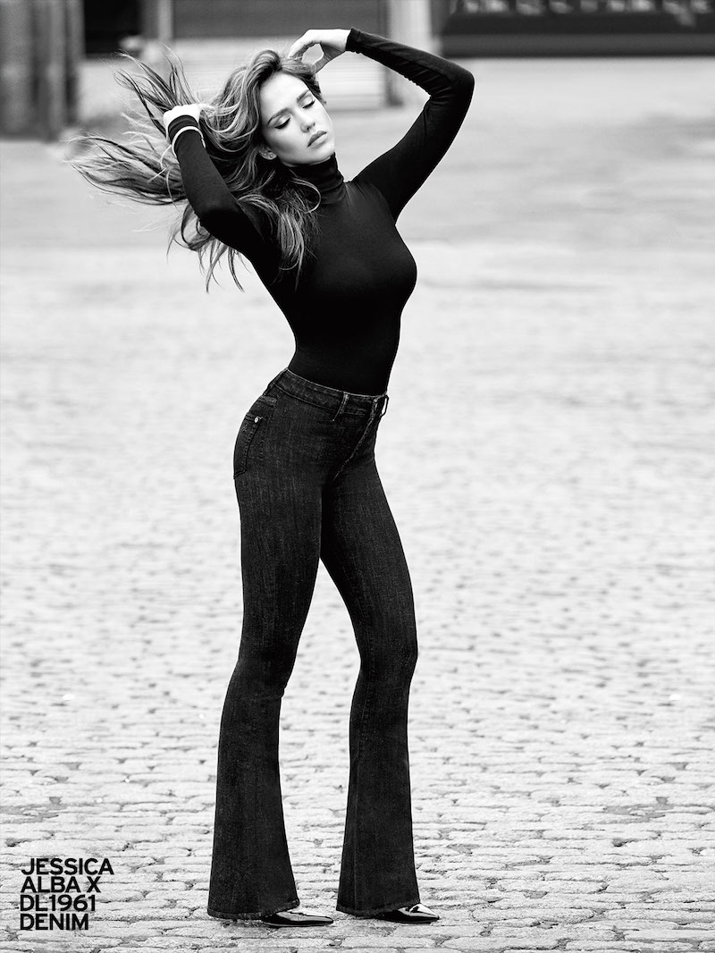 Jessica Alba x DL1961 No. 5 Trimtone Flare Jeans
