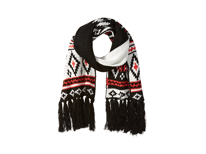 Jessica Simpson Boucle Intarsia Knit Scarf