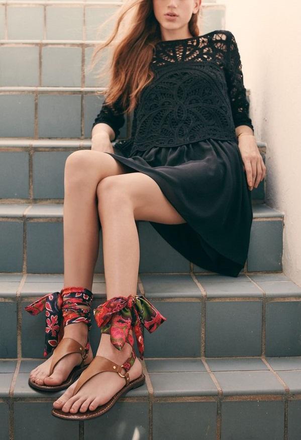 Joie Jordie Crochet Overlay Chiffon Dress