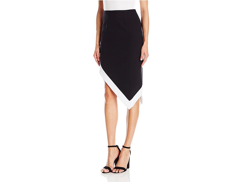 KENDALL + KYLIE Contrast Asymmetrical Skirt
