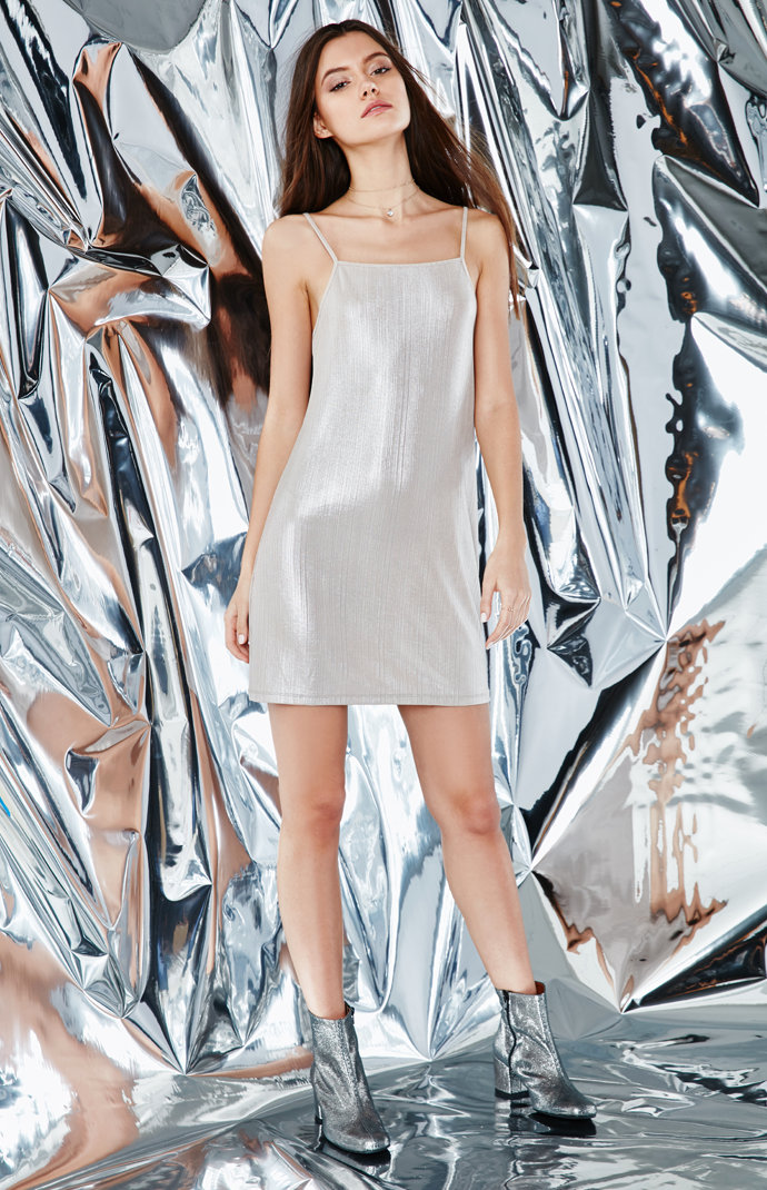 Kendall and Kylie Shimmery Slip Dress