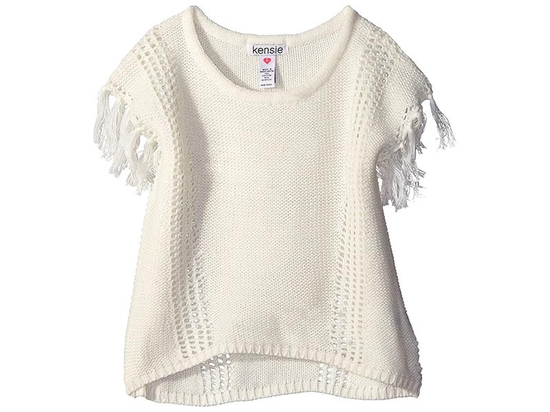 Kensie Girls' Dolman Sweater with Tassel Trim