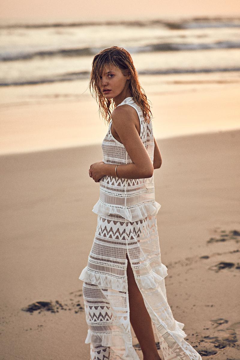 Kisuii Estela Cotton-Blend Maxi Dress