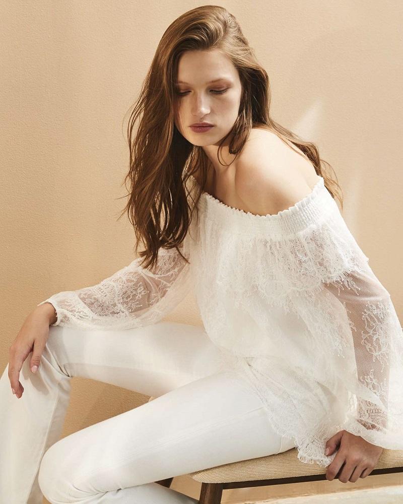 Kobi Halperin Reese Off-the-Shoulder Lace Blouse