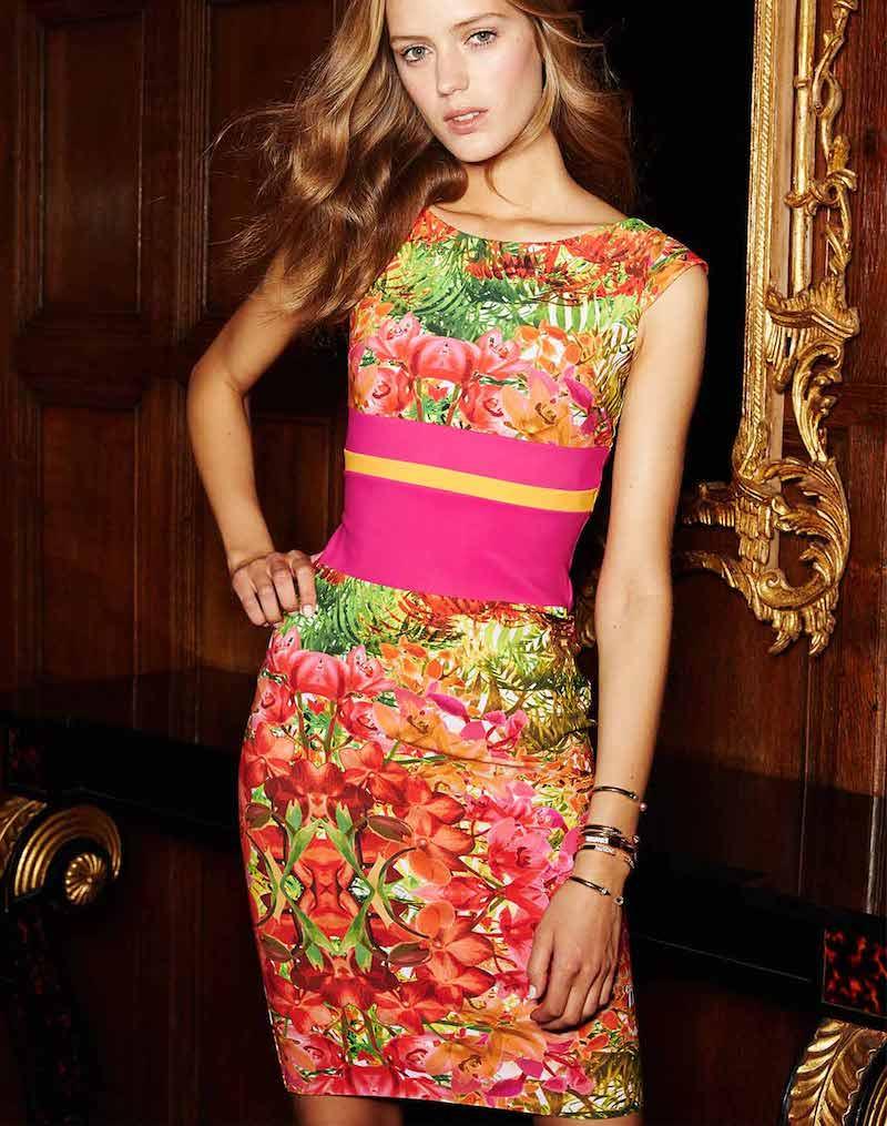 La Petite Robe di Chiara Boni Sumatra Cap-Sleeve Floral Sheath Dress