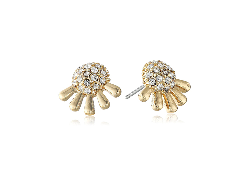 Laundry by Shelli Segal Pave Dome Stud Earrings